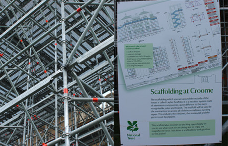 Croom Court scaffolding design and safety notice.