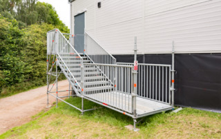 Layher system stairs as an alternative to HAKI stairs