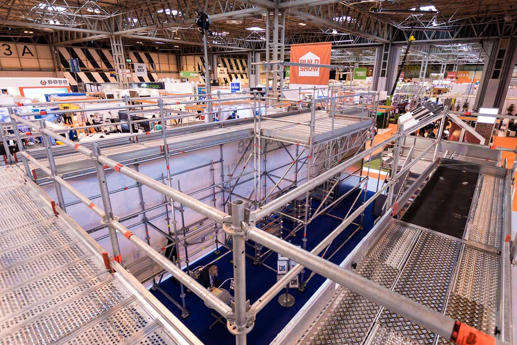 UK Construction week 2016 - scaffolding in Birmingham