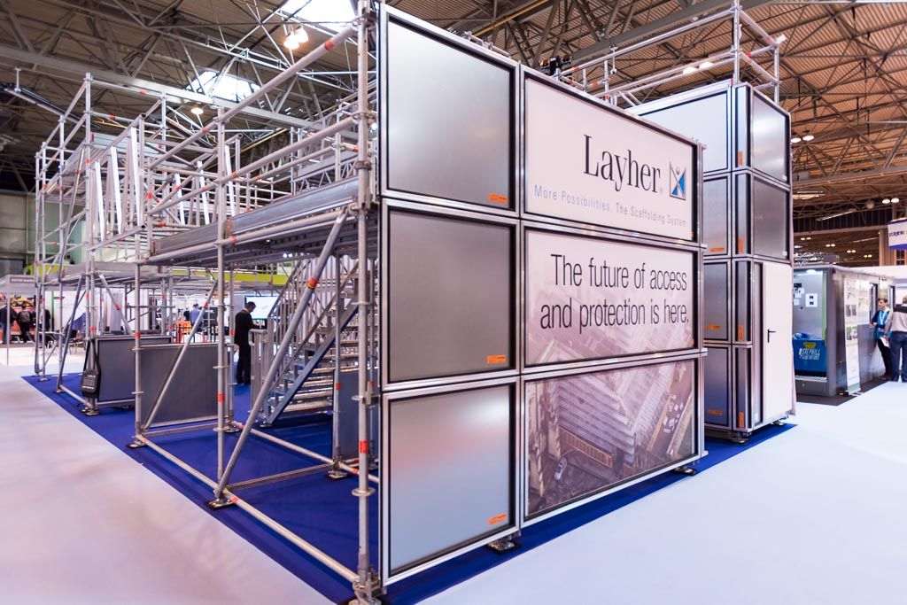 Layher scaffolding at the NEC Birmingham