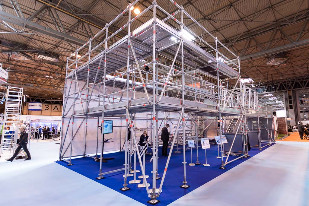 Event scaffolding at the NEC in Birmingham