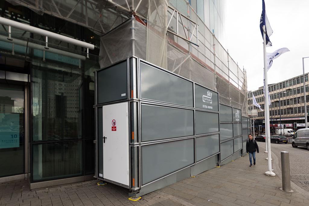 Scaffolding on Radisson Blu Hotel in Birmingham