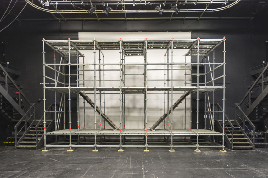 Layher stage with staircases.