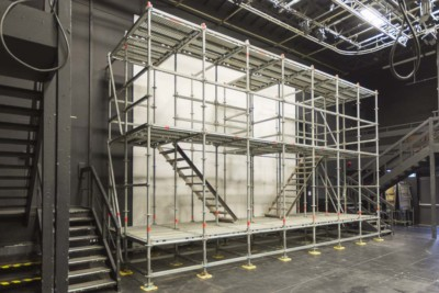 Event stage constructed in Layher for Stratford-upon-Avon College