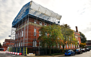 Nuneaton Town Hall Temporary Roof Scaffolding